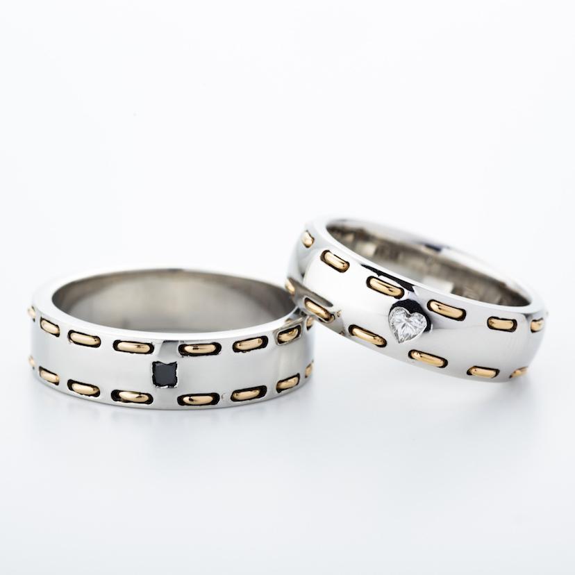 【ROCCA】まるで縫ったようなステッチのリング!幅広でもつけ心地抜群のマリッジリング