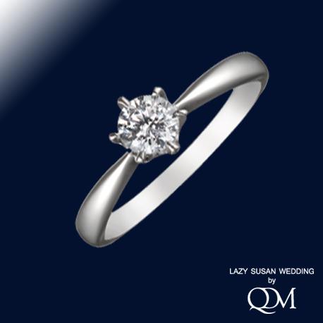 6本爪クラシカルラウンドダイヤモンドリング