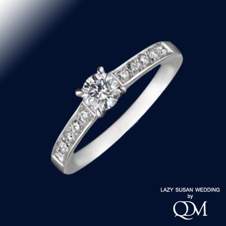 4本爪サイドメレーダイヤモンドリング