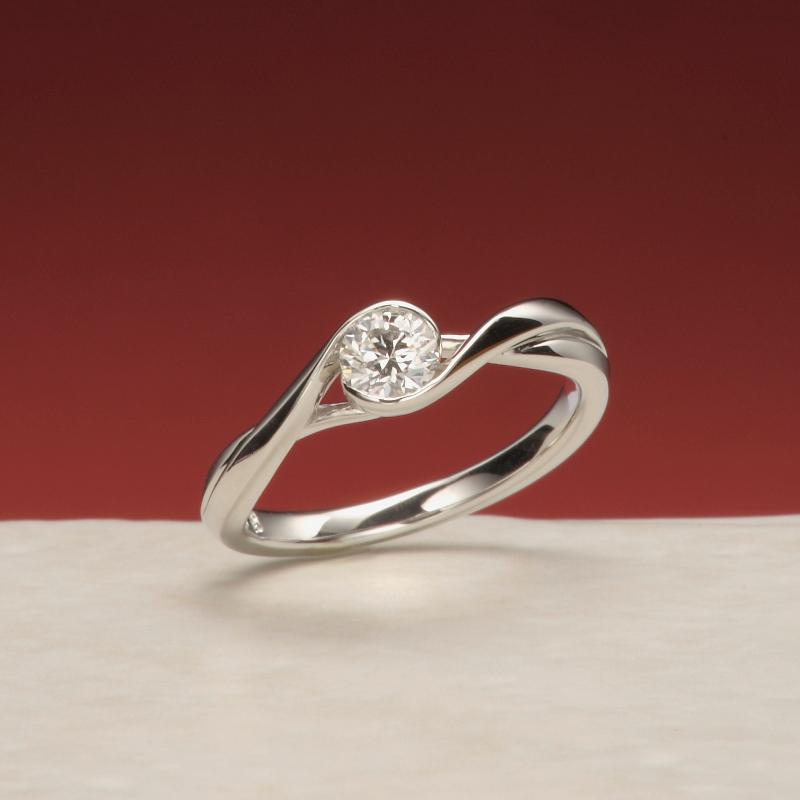 二世の契り ―にせいのちぎり― 婚約指輪・セットリング シンプル 爪無し