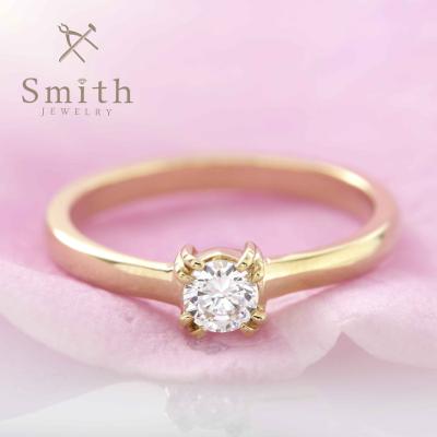 【Smith】手作り婚約指輪 正統派リングでのプロポーズ!もちろん感動の品質です