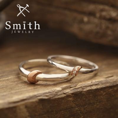 【Smith】手作り結婚指輪 ワンポイントが際立つ個性派。難易度は高めです。