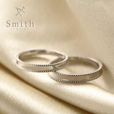 【Smith】手作り結婚指輪 オプションのミルグレイン加工でアンティーク調に!